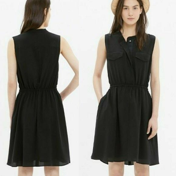 Madewell Dresses & Skirts - Madewell Silk Journey Shirtdress in Black